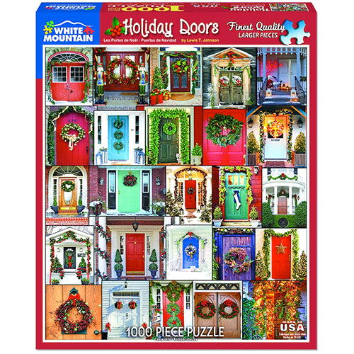 Holiday Doors Puzzle - 1000 piece