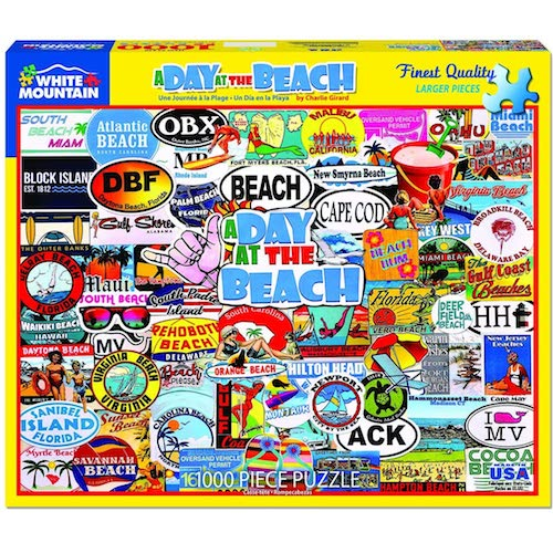 A Day at the Beach Puzzle - 1000 piece