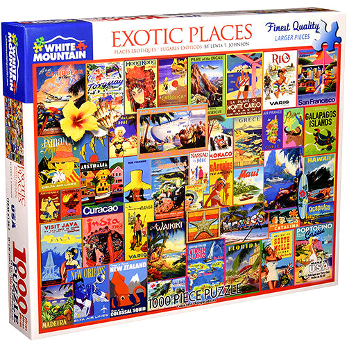 Exotic Places Puzzle - 1000 piece
