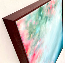 "Load image into Gallery viewer, Reflect: 16""x20 acrylic on canvas in wood float frame"