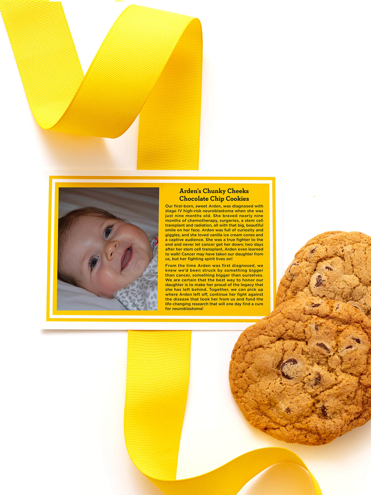 Arden's Chunky Cheeks Chocolate Chip Cookies
