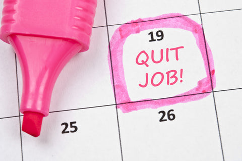 Reminder note to quit your job
