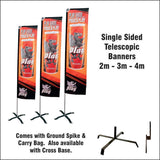 Telescopic Banners 4m