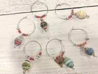 Paper Bead Beverage Charms
