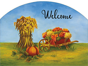 Autumn Wheelbarrow - Outdoor Plaque