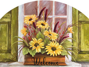 Autumn Window Box - Outdoor Plaque