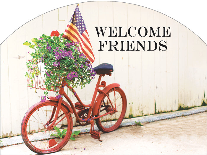 Bicycle Americana - Outdoor Plaque
