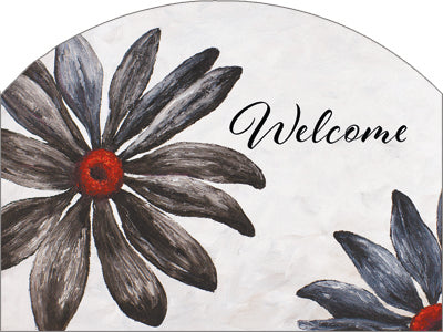 Black Daisy - Outdoor Plaque