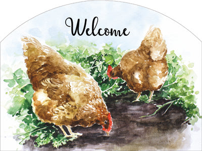 Chickens - Outdoor Plaque