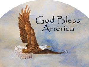 Eagle God Bless America - Outdoor Plaque