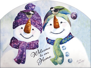 Happy Chickadees - Outdoor Plaque
