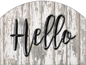 Hello - Outdoor Plaque