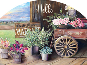 La Rhonda Hello Summer - Outdoor Plaque