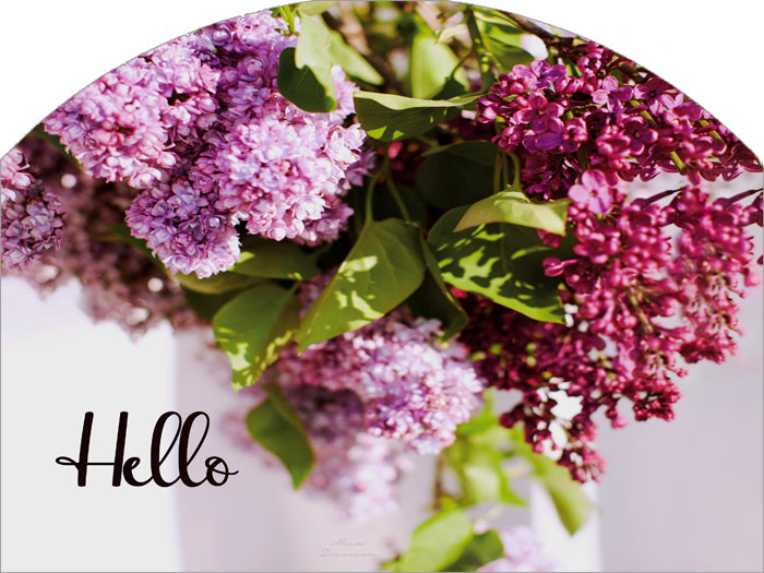 Lilac Swag Hello - Outdoor Plaque