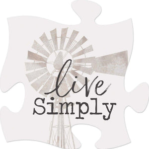 Live Simply - Puzzle Piece Sign