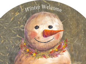 Primitive Snowman - Outdoor Plaque