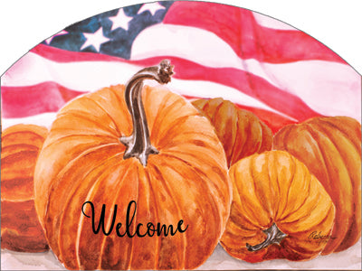 Americana Pumpkins - Outdoor Plaque