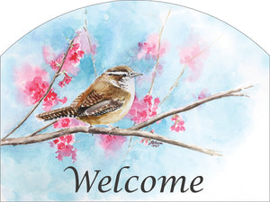 Wren Welcome - Outdoor Plaque