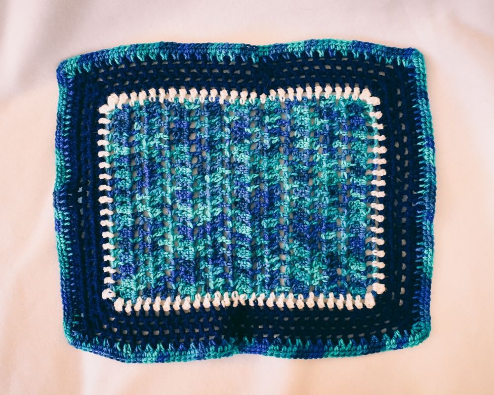 Blue Ocean Waves Inspired Cat Mat