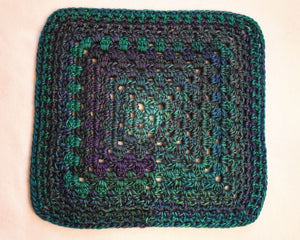 Jewel Tone Blue and Green Cat Mat
