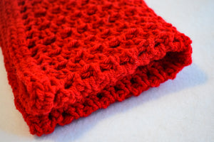 Bright Cherry Red Carrier Liner Cat Mat