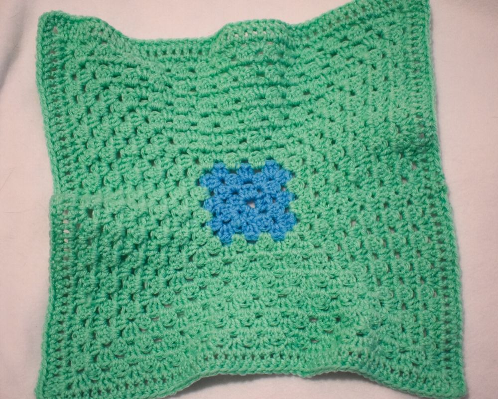 Bright Green and Periwinkle Blue Cat Mat