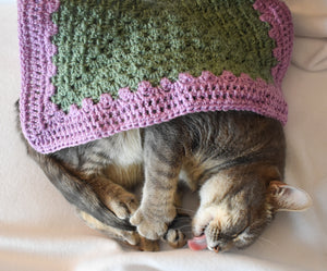 Sage and Lavender Cat Mat
