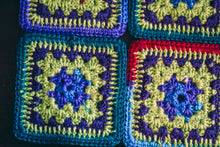 Load image into Gallery viewer, Vibrant Multicolor Crochet Coasters Set (Set of 4)