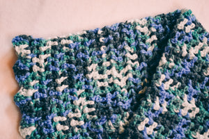 Blue and Teal Gradient Baby Blanket