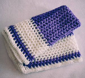 Gradient Plum and White Baby Blanket