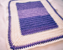 Load image into Gallery viewer, Gradient Plum and White Baby Blanket