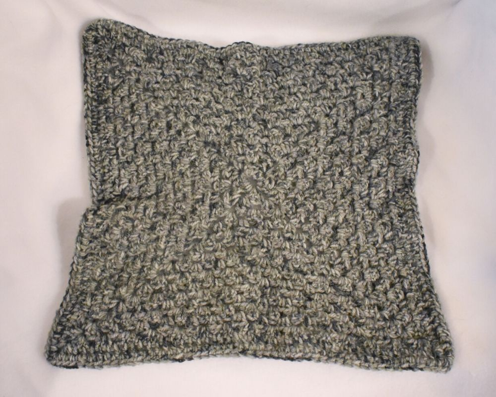 Heather Gray Crochet Cat Mat