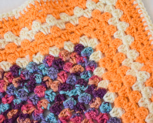 Orange & Cream Autumnal Cat Mat