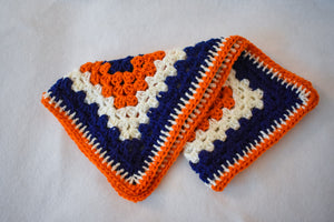 Navy, Orange, & Pink Cat Mat