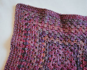 Pink & Purple Jewel Tone Homespun Cat Mat