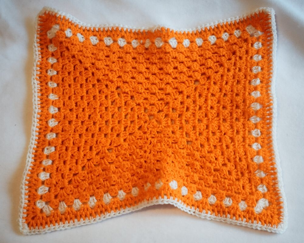 Pumpkin Orange and White Cat Mat