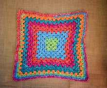 Load image into Gallery viewer, Rainbow Granny Square Cat Mat