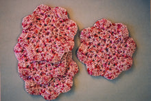 Load image into Gallery viewer, Rosy Pink Floral-Inspired Coasters (Set of 4)