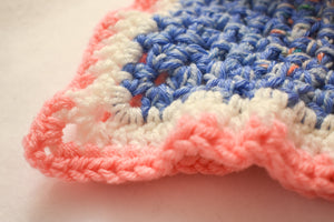 Speckled Periwinkle Blue & Peachy Pink Cat Mat