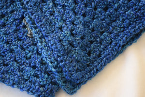 Cerulean & Teal Homespun Yarn Crochet Cat Mat