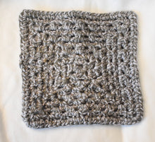 Load image into Gallery viewer, Charcoal Sky Crochet Cat Mat