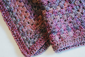 Pink and Purple Jewel Tone Homespun Cat Mat