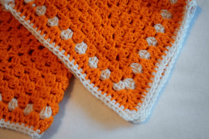 Pumpkin Orange & White Cat Mat