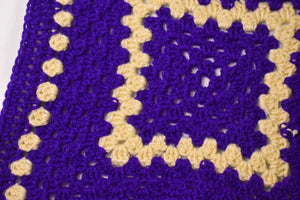 Purple and Cream Cat Mat