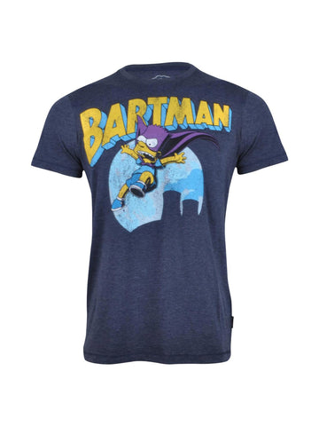Bartman Blue Melange T Shirt - Planet Superhero