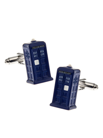 Dr who Police box cufflink - Planet Superhero