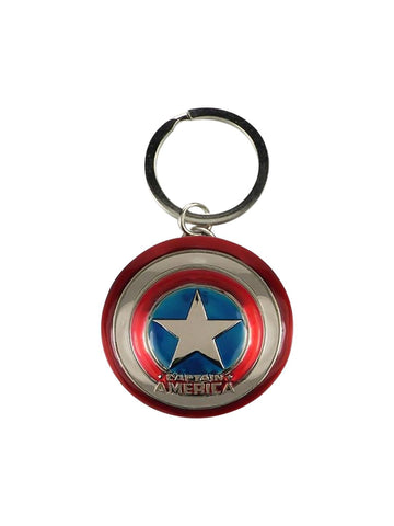 Captain America Movie Metal Shield Keychain - Planet Superhero
