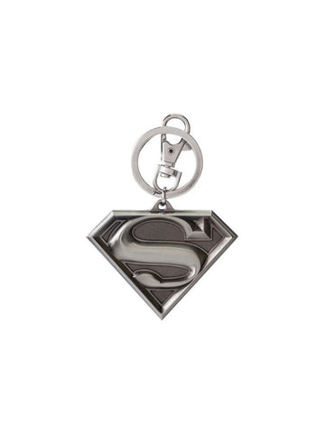 Superman Shield Logo Pewter Key Chain - Planet Superhero