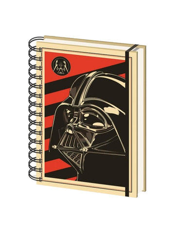 Star Wars Darth Vader Red A5 Notebook - Planet Superhero