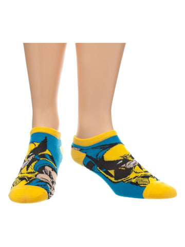 Marvel Blue Wolverine Ankle Socks - Planet Superhero